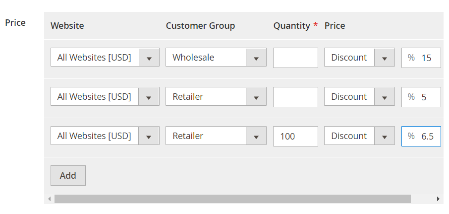 Advanced Pricing Customer Groups