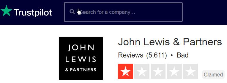 John Lewis Trustpilot