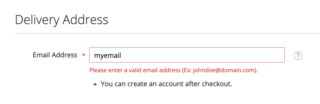data email validation magento checkout