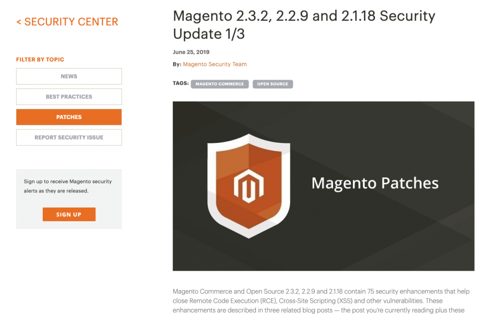 June 2019 Magento Patches out now