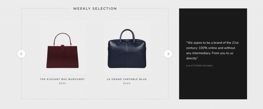 Shopify Blog Widget brand example