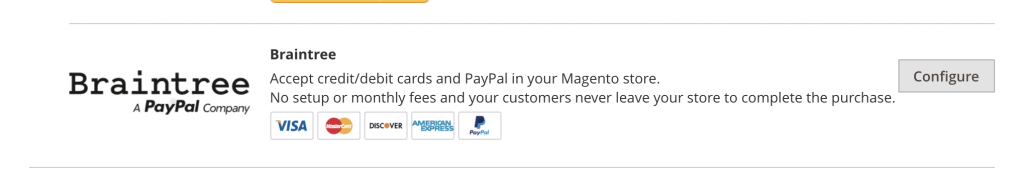 Magento 2 braintree payment solutions in the magento 2 admin panel